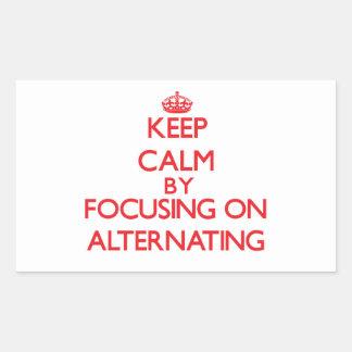 Keep Calm by focusing on Alternating Rectangular Stickers