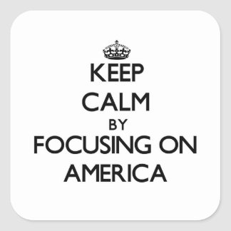 Keep Calm by focusing on America Stickers