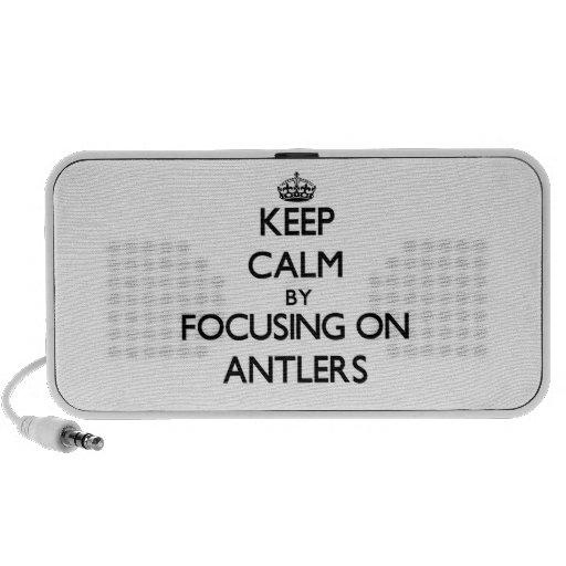Keep Calm by focusing on Antlers Notebook Speakers