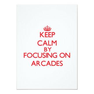 Keep Calm by focusing on Arcades 13 Cm X 18 Cm Invitation Card