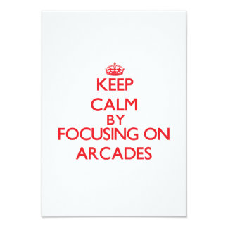 Keep Calm by focusing on Arcades Personalized Announcement