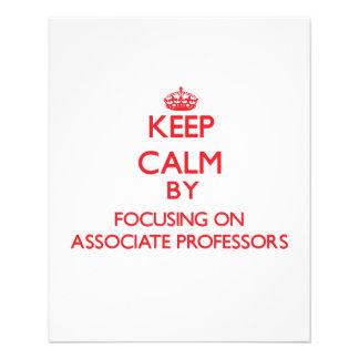 Keep Calm by focusing on Associate Professors Flyer