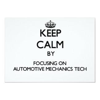 Keep calm by focusing on Automotive Mechanics Tech Personalized Announcement