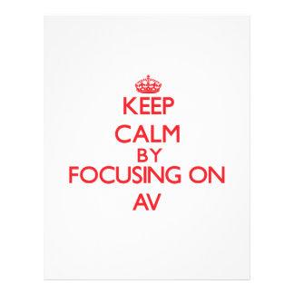 Keep Calm by focusing on Av Flyers