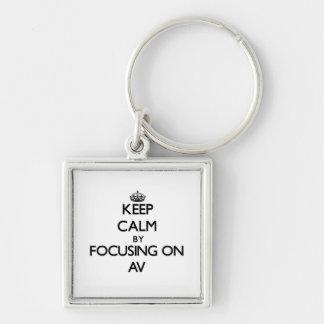 Keep Calm by focusing on Av Key Chains