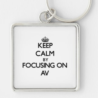 Keep Calm by focusing on Av Keychain