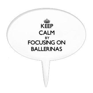 Keep Calm by focusing on Ballerinas Cake Picks