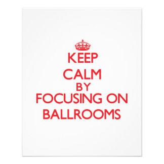Keep Calm by focusing on Ballrooms Flyer Design