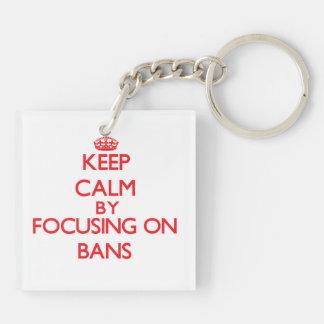 Keep Calm by focusing on Bans Acrylic Keychain