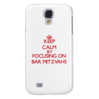 Keep Calm by focusing on Bar Mitzvahs Samsung Galaxy S4 Covers