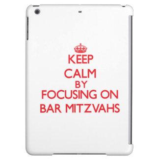 Keep Calm by focusing on Bar Mitzvahs Cover For iPad Air