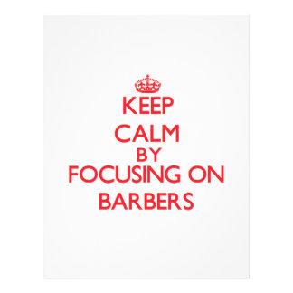Keep Calm by focusing on Barbers Custom Flyer