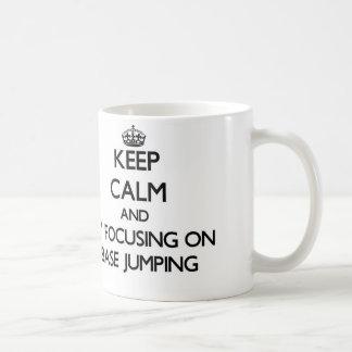 Keep calm by focusing on Base Jumping Mug