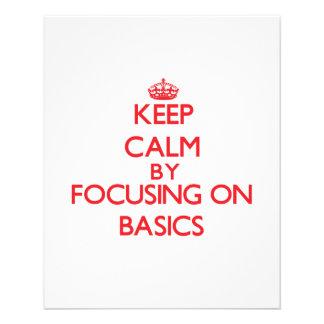 Keep Calm by focusing on Basics Flyer