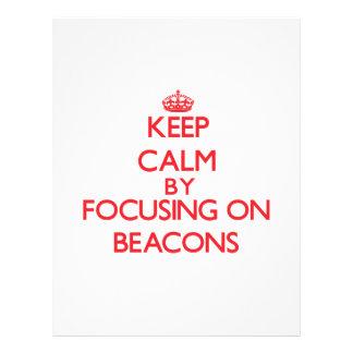 Keep Calm by focusing on Beacons Custom Flyer