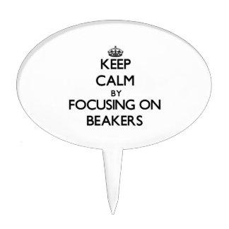 Keep Calm by focusing on Beakers Cake Pick