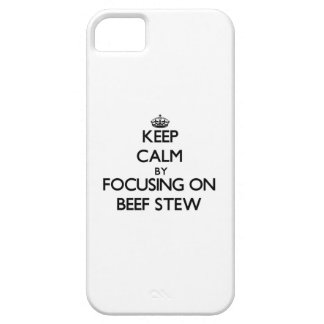 Keep Calm by focusing on Beef Stew iPhone 5 Covers