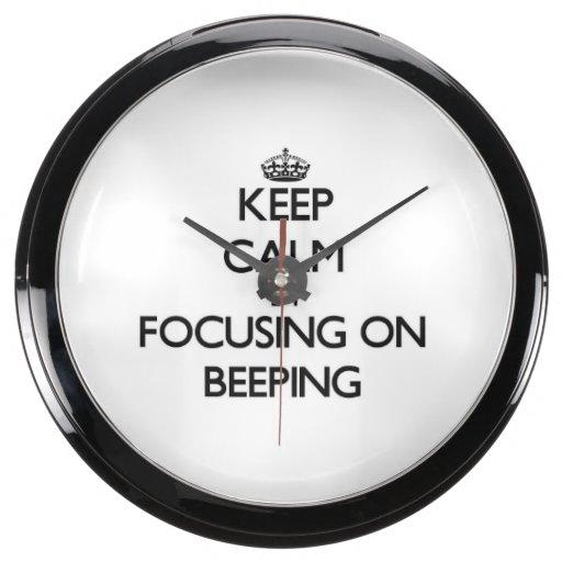Keep Calm by focusing on Beeping Aquarium Clocks