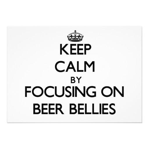 Keep Calm by focusing on Beer Bellies Custom Invite