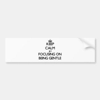 Keep Calm by focusing on Being Gentle Bumper Sticker