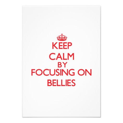 Keep Calm by focusing on Bellies Custom Invite