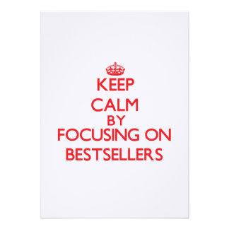 Keep Calm by focusing on Bestsellers Custom Invite