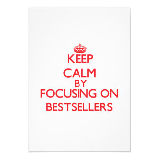 Keep Calm by focusing on Bestsellers Invite