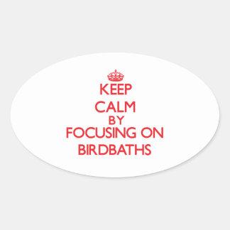 Keep Calm by focusing on Birdbaths Oval Sticker
