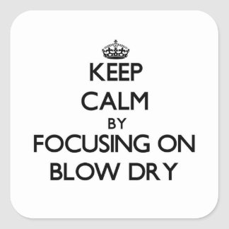 Keep Calm by focusing on Blow Dry Stickers