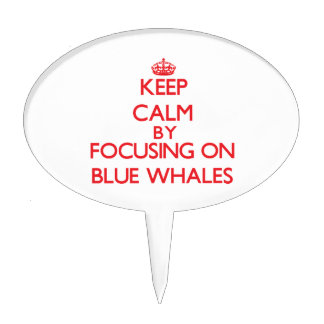 Keep calm by focusing on Blue Whales Cake Picks