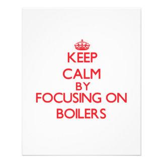 Keep Calm by focusing on Boilers Custom Flyer