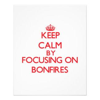 Keep Calm by focusing on Bonfires Custom Flyer