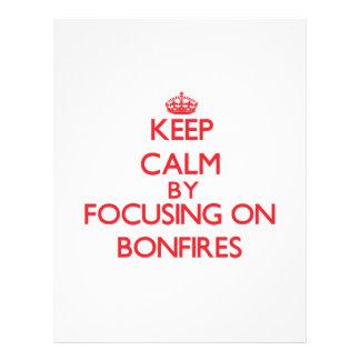 Keep Calm by focusing on Bonfires Flyer Design