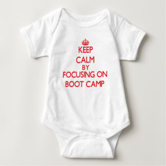 Keep Calm by focusing on Boot Camp Baby Bodysuit