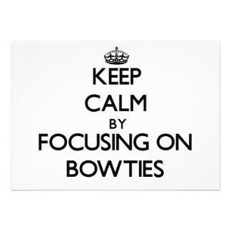 Keep Calm by focusing on Bowties Card