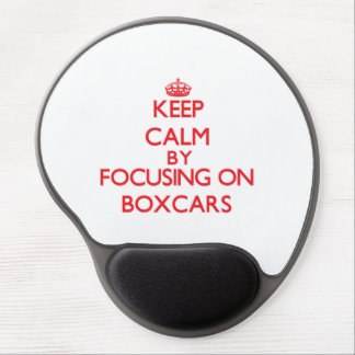 Keep Calm by focusing on Boxcars Gel Mouse Mats