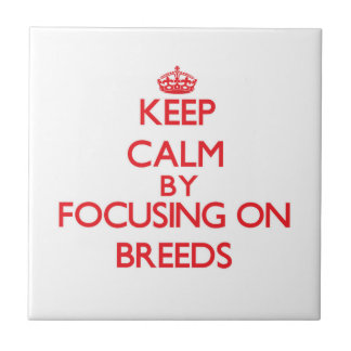Keep Calm by focusing on Breeds Tiles