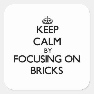 Keep Calm by focusing on Bricks Sticker