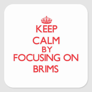 Keep Calm by focusing on Brims Square Stickers