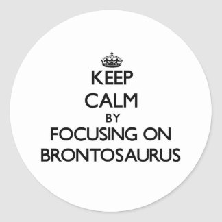 Keep Calm by focusing on Brontosaurus Stickers