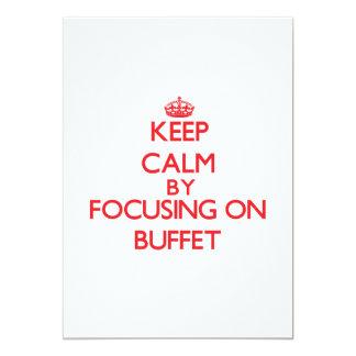 Keep Calm by focusing on Buffet 13 Cm X 18 Cm Invitation Card