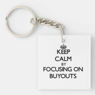 Keep Calm by focusing on Buyouts Acrylic Key Chain