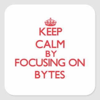 Keep Calm by focusing on Bytes Square Sticker