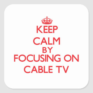 Keep Calm by focusing on Cable TV Stickers