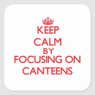Keep Calm by focusing on Canteens Square Sticker