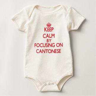 Keep Calm by focusing on Cantonese Bodysuit