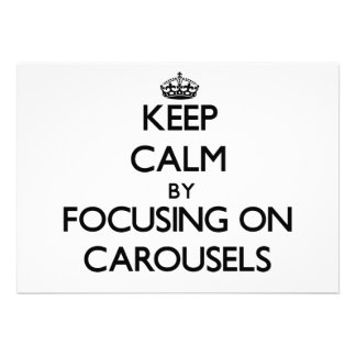 Keep Calm by focusing on Carousels Announcements