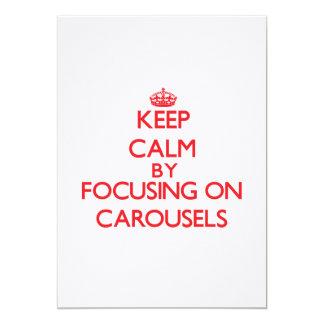 Keep Calm by focusing on Carousels Custom Announcement