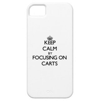 Keep Calm by focusing on Carts iPhone 5/5S Case
