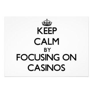 Keep Calm by focusing on Casinos Custom Invites